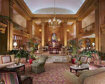 Front Lobby at the Fairmont Olympic Hotel Seattle Hotel