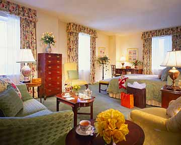 Guest Room at the Fairmont Olympic Hotel Seattle Hotel